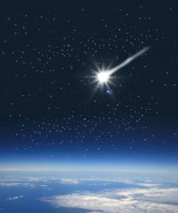 pensée et étoile filante